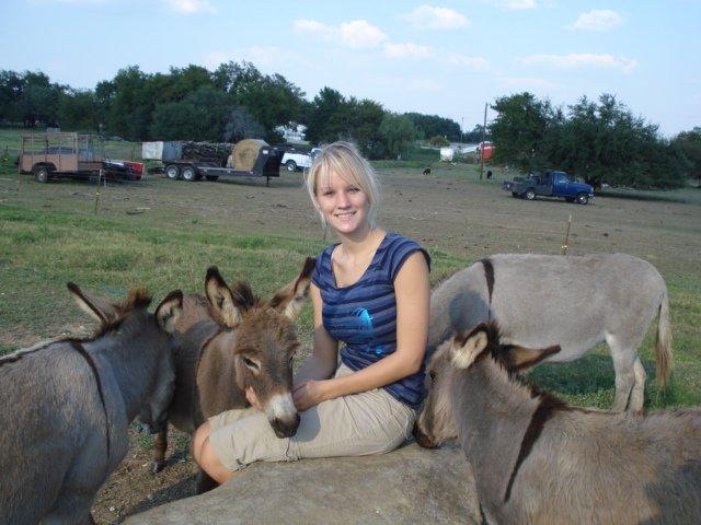Linda and miniature donkeys