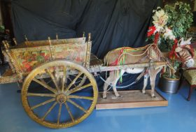 Imported Antique Festival Cart and Harness